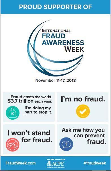 Fraud week poster